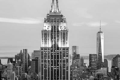 Empire State Photograph - Iconic Skyscrapers by Az Jackson