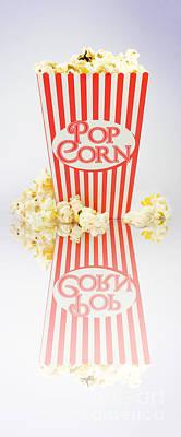 Iconic Striped Popcorn Carton Art Print