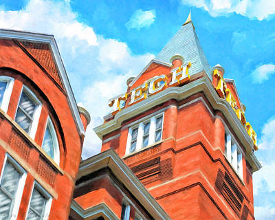 Painting - Iconic Tech Tower - Georgia Tech Campus by Mark Tisdale