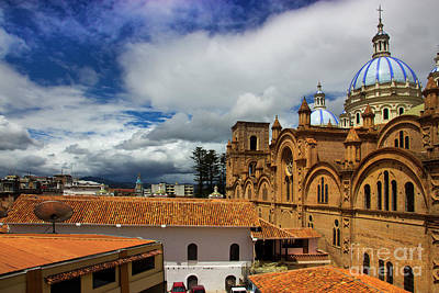 Immaculate Photograph - Iconic View Of Cuenca Ecuador by Al Bourassa