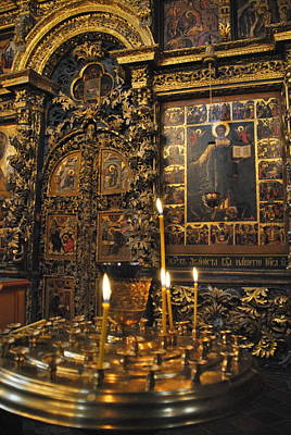 Photograph -  Iconostasis - Church Of Elijah The Prophet by Jacqueline M Lewis