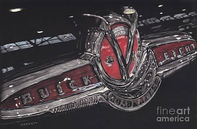 Icon Drawing - Icons Buick V8 by Matthew Jarrett