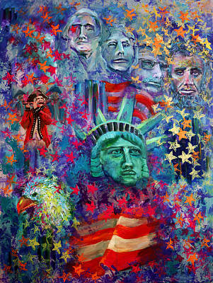 Icons Of Freedom Art Print by Peter Bonk