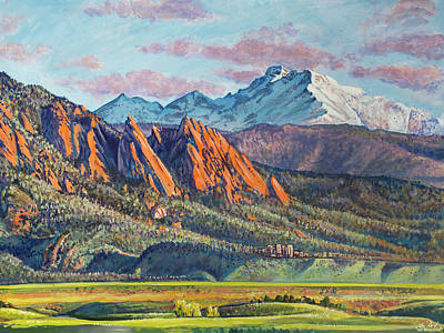 Painting - Icons Of The Front Range by Aaron Spong