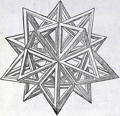 Drawing - Icosaedron Elevatum Vacuum by Leonardo Da Vinci