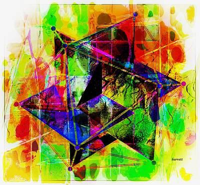 Icosahedron Digital Art - Icosahedron Mania by Don Barrett