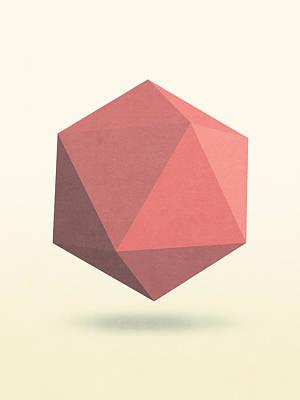 Icosahedron Digital Art - Icosahedron by P S