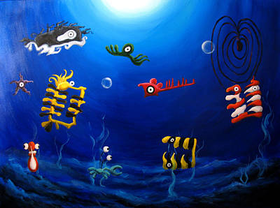 Wyland Painting - Icthylogy No.9 by Michelle Barone