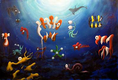 Wyland Painting - Icthyology No.10 by Michelle Barone