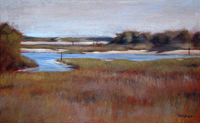 Marsh Scene Painting - Icw Looking Toward Masonboro by Christopher Reid