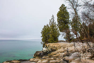 Nikki Vig Royalty-Free and Rights-Managed Images - Icy Aventurine - Cave Point by Nikki Vig