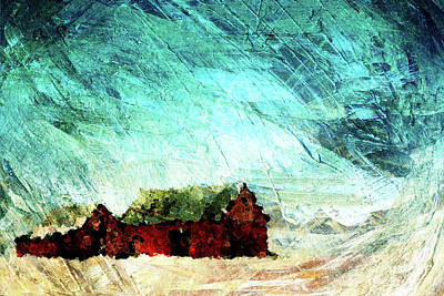 Icy Barns Art Print by Andrea Barbieri