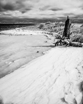 Photograph - Icy Beach by Hayden Hammond