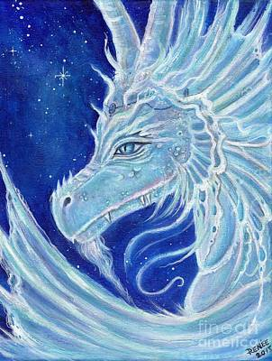 Painting - Icy Blue Dragon by Renee Lavoie