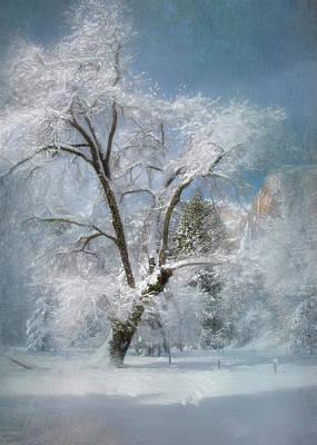 El Capitan Digital Art - Icy Blue by Laura Macky