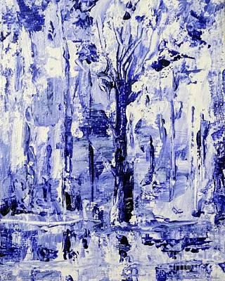 Painting - Icy Blue Woods by Asha Sudhaker Shenoy