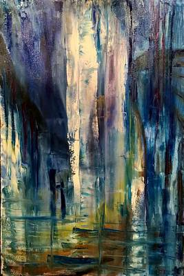 Painting - Icy Cavern Abstract by Nicolas Bouteneff