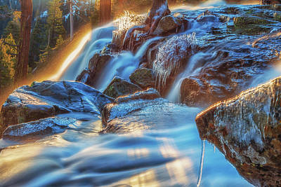 Photograph - Icy Eagle Falls by Marc Crumpler