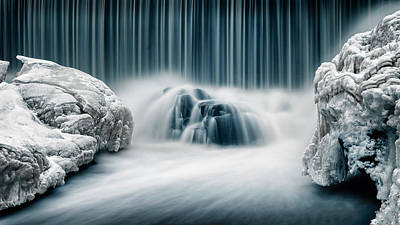 Cold Photograph - Icy Falls by Keijo Savolainen