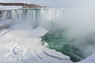 Photograph - Icy Fury - Niagara Falls Spectacular Ice Buildup by Georgia Mizuleva
