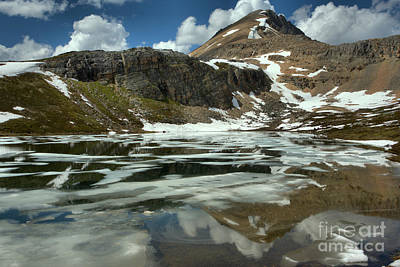 Photograph - Icy Helen Lake Reflections by Adam Jewell