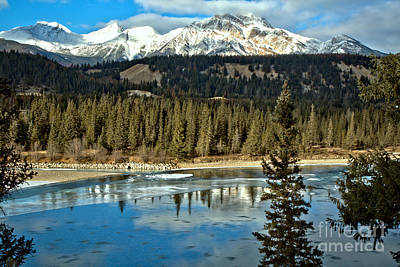 Photograph - Icy Jasper Mountain Reflections by Adam Jewell