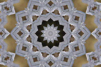 Photograph - Icy Lace Doily Kaleidoscope by Robyn Stacey