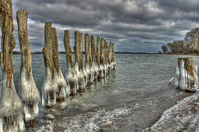 Ice Photograph - Icy Lake by Jan Boesen