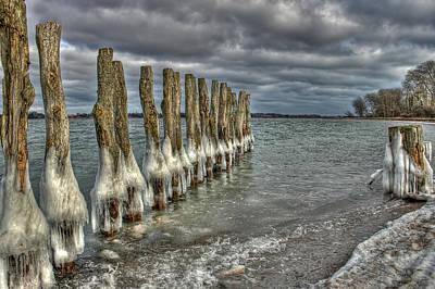 Cloud Photograph - Icy Lake by Jan Boesen
