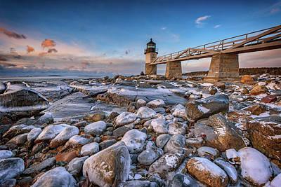 Photograph - Icy Morning At Marshall Point by Rick Berk