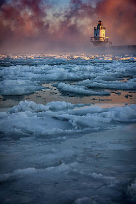 Photograph - Icy Morning At Spring Point Ledge Lighthouse by Rick Berk