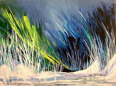 Icy Pond Art Print by Yvette Sikorsky
