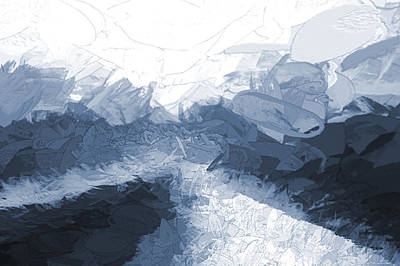 Digital Art - Icy Ramp Blue by Aliceann Carlton