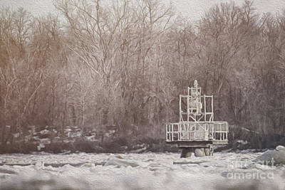 Photograph - Icy River by Dawn Gari
