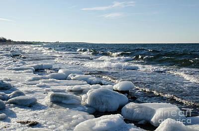 Photograph - Icy Rocks By The Coast by Kennerth and Birgitta Kullman