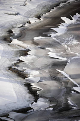 Photograph - Icy Shoreline by Mike Evangelist