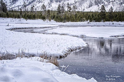 Photograph - Icy Stream by Peg Runyan