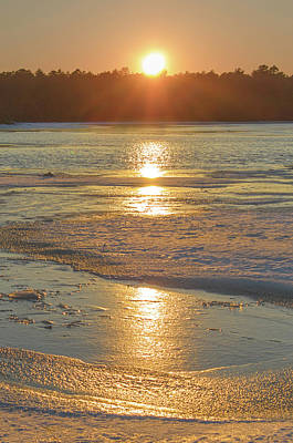 Photograph - Icy Sunset by Beth Sawickie
