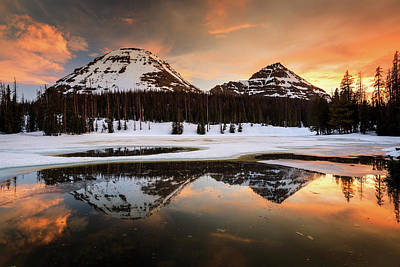 Photograph - Icy Uinta Sunset  by Johnny Adolphson