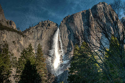 Photograph - Icy Upper Yosemite Falls by Connie Cooper-Edwards