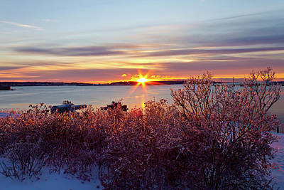 Photograph - Icy View From Ft Allen by Ed Fletcher
