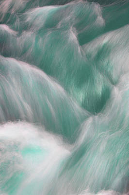 Photograph - Icy Water Flow Abstract 2 by Jenny Rainbow