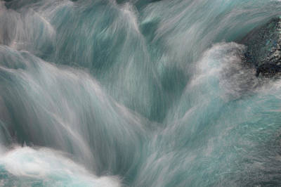 Photograph - Icy Water Flow Abstract  by Jenny Rainbow
