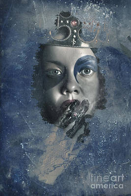 Icy Window Reflection. Wicked Queen Of Winter Art Print