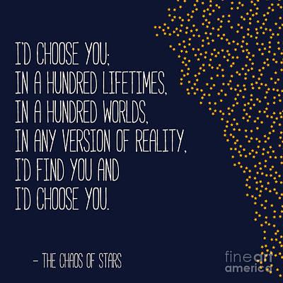 Digital Art - I'd Choose You by Liesl Marelli