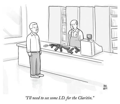 Drawing - Id For The Claritin by Paul Noth