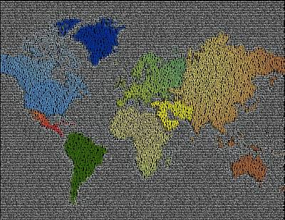 Painting - I'd Like To Teach The World To Sing World Map by Paul Van Scott