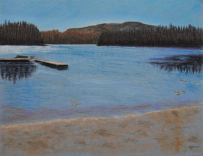 Pastel - Idabel Lake by Marina Garrison