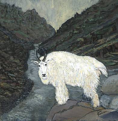 Painting - Idaho Mountain Goat by Sara Stevenson