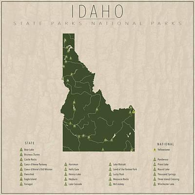 Yellowstone Digital Art - Idaho Parks by Finlay McNevin